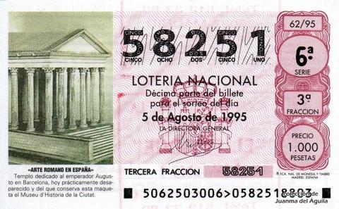 Décimo de Lotería 1995 / 62