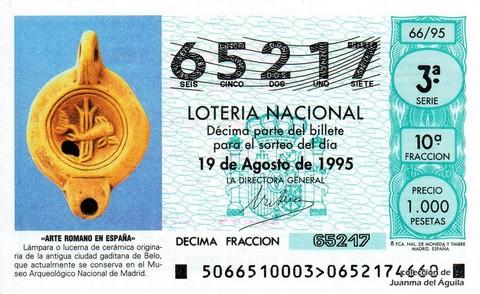 Décimo de Lotería 1995 / 66