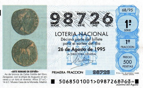 Décimo de Lotería 1995 / 68