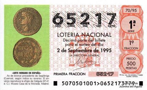 Décimo de Lotería 1995 / 70