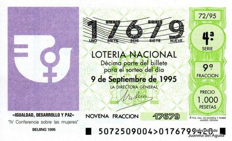 Décimo de Lotería 1995 / 72