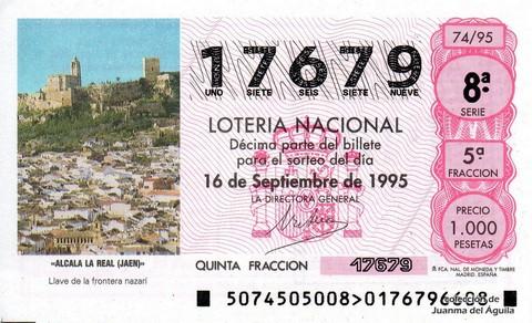 Décimo de Lotería 1995 / 74