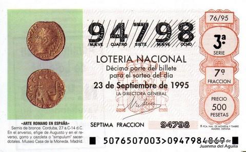 Décimo de Lotería 1995 / 76
