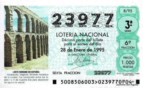 Décimo de Lotería 1995 / 8