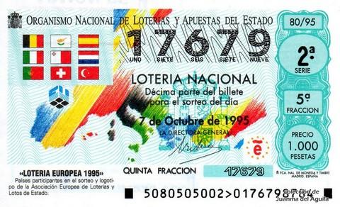 Décimo de Lotería 1995 / 80