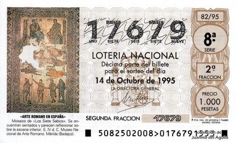 Décimo de Lotería 1995 / 82