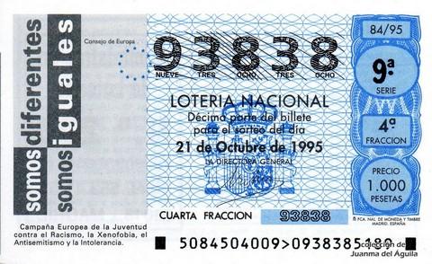 Décimo de Lotería 1995 / 84
