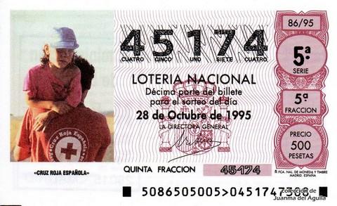 Décimo de Lotería 1995 / 86
