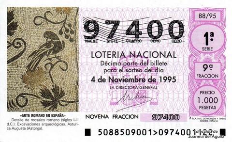 Décimo de Lotería 1995 / 88