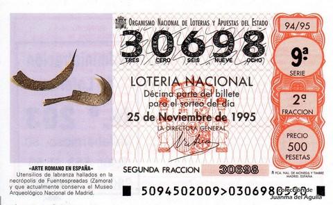 Décimo de Lotería 1995 / 94