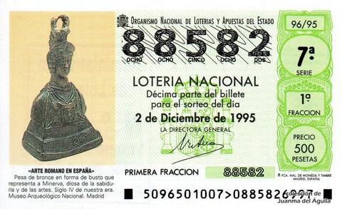 Décimo de Lotería 1995 / 96