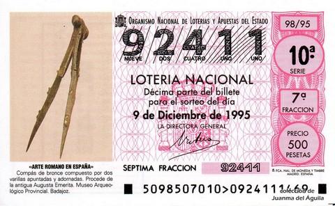 Décimo de Lotería 1995 / 98