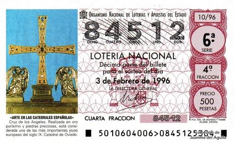 Décimo de Lotería 1996 / 10