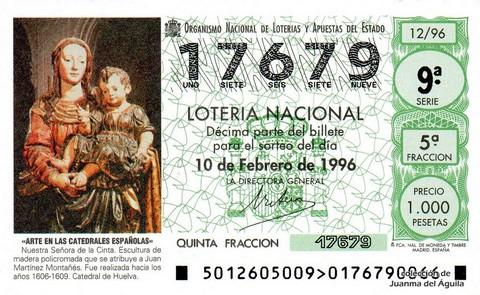 Décimo de Lotería 1996 / 12