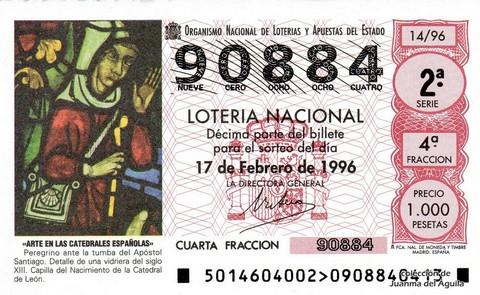 Décimo de Lotería 1996 / 14