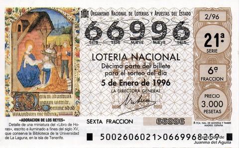 Décimo de Lotería 1996 / 2