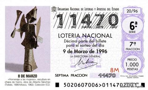 Décimo de Lotería 1996 / 20