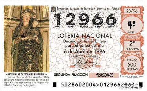 Décimo de Lotería 1996 / 28