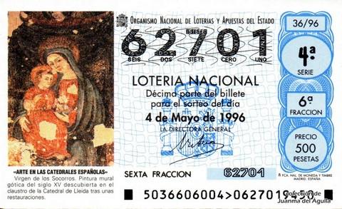 Décimo de Lotería 1996 / 36
