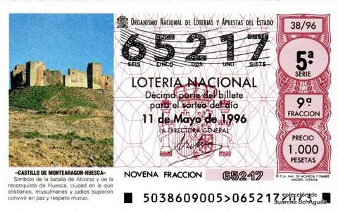 Décimo de Lotería 1996 / 38