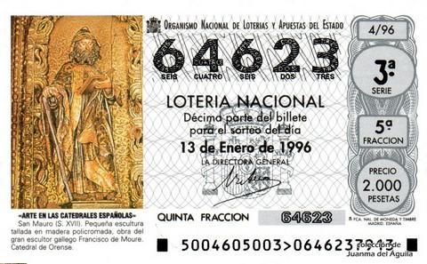 Décimo de Lotería 1996 / 4