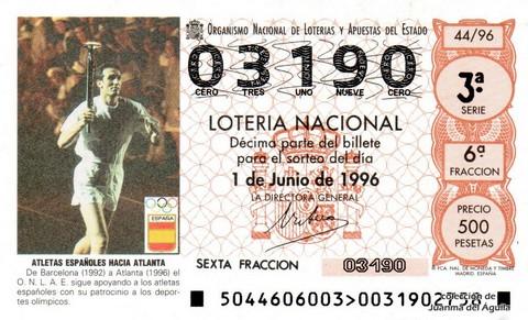 Décimo de Lotería 1996 / 44