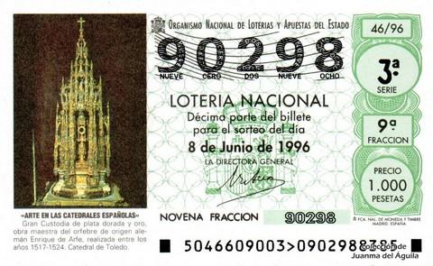 Décimo de Lotería 1996 / 46
