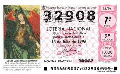 Décimo de Lotería 1996 / 56