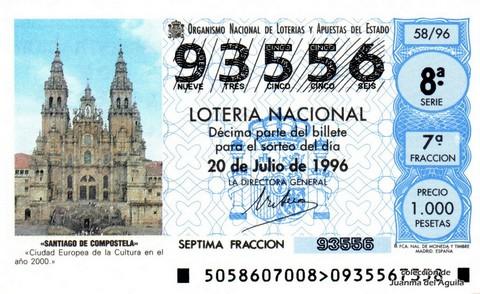 Décimo de Lotería 1996 / 58