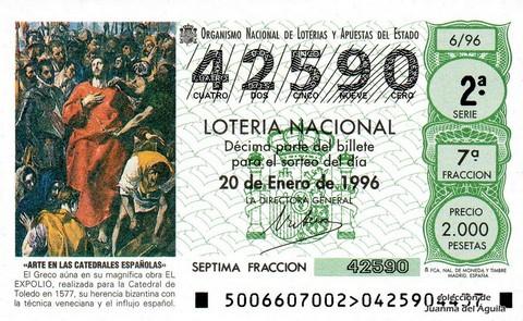 Décimo de Lotería 1996 / 6