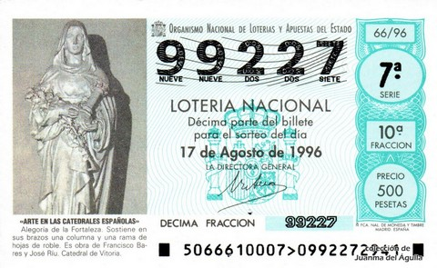 Décimo de Lotería 1996 / 66