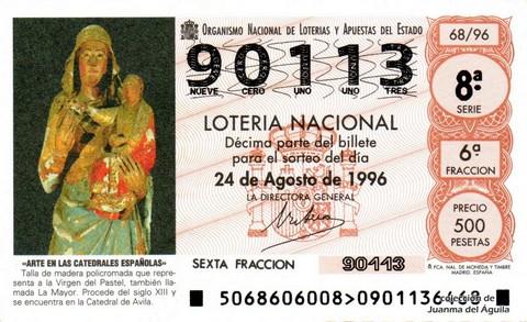 Décimo de Lotería 1996 / 68