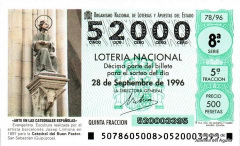 Décimo de Lotería 1996 / 78