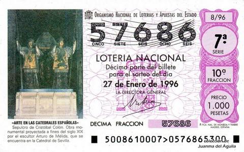 Décimo de Lotería 1996 / 8
