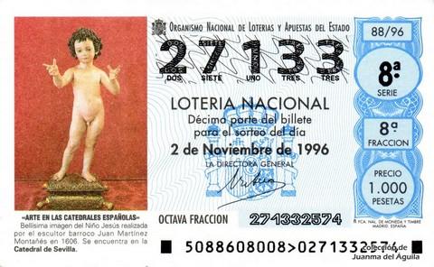 Décimo de Lotería 1996 / 88