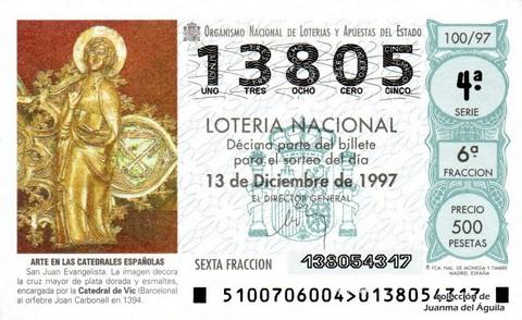 Décimo de Lotería 1997 / 100