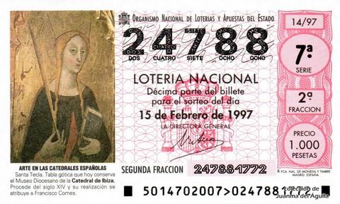 Décimo de Lotería 1997 / 14
