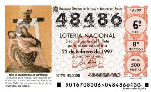 Décimo de Lotería 1997 / 16