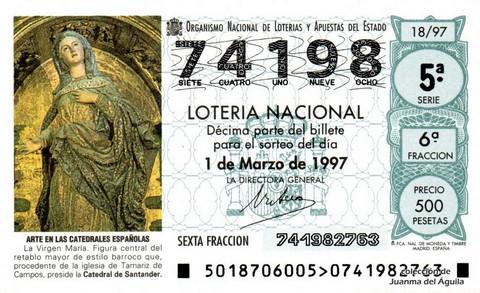 Décimo de Lotería 1997 / 18