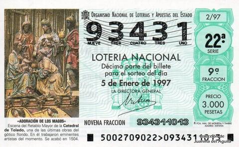 Décimo de Lotería 1997 / 2