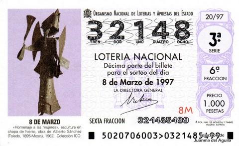 Décimo de Lotería 1997 / 20