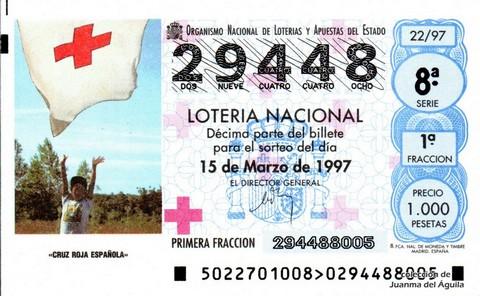 Décimo de Lotería 1997 / 22