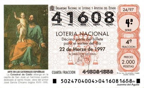 Décimo de Lotería 1997 / 24