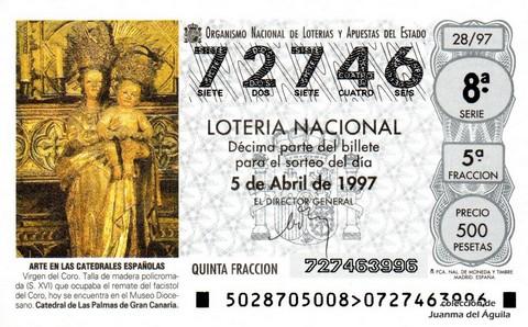 Décimo de Lotería 1997 / 28