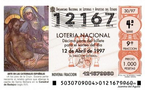 Décimo de Lotería 1997 / 30