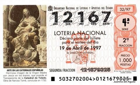 Décimo de Lotería 1997 / 32