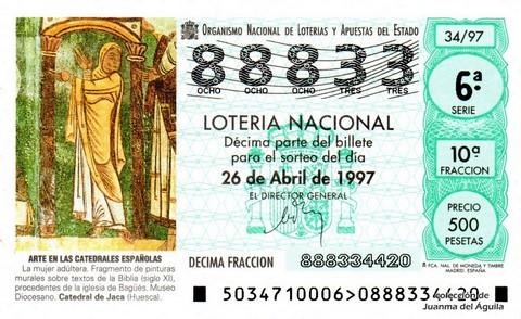 Décimo de Lotería 1997 / 34