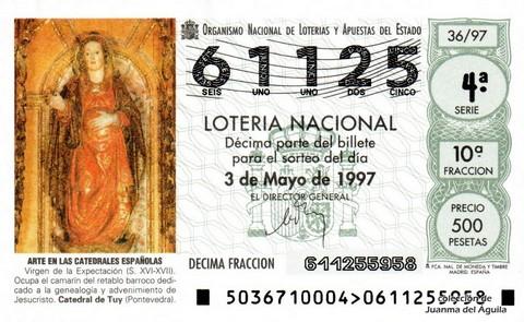 Décimo de Lotería 1997 / 36