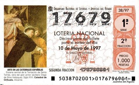 Décimo de Lotería 1997 / 38