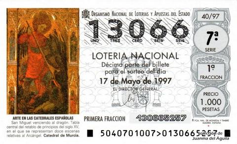 Décimo de Lotería 1997 / 40